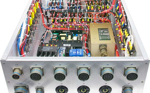 A photo of power conversion and conditioning components consolidated into one PDU enclosure.