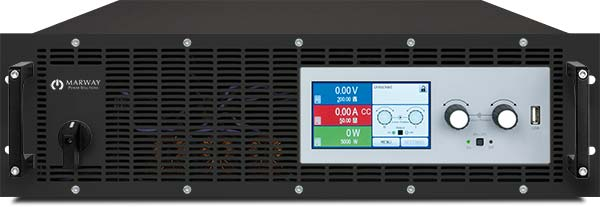 A photo of Marway's 310 Series 3U dc autoranging programmable power supply.