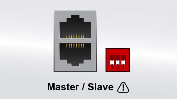 An illustration of the master slave bus connector.