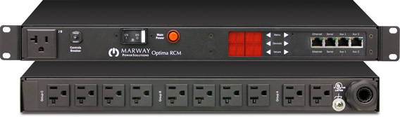 One of Marway's Optima 820 intelligent single-phase PDUs.