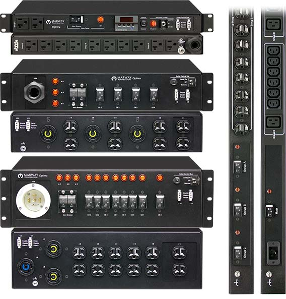 A photo of Marway standard basic PDU products.