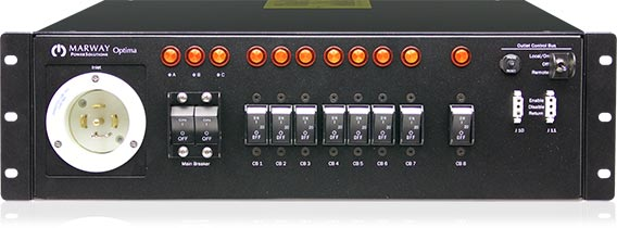 A photo of an Optima 533 smart PDU.