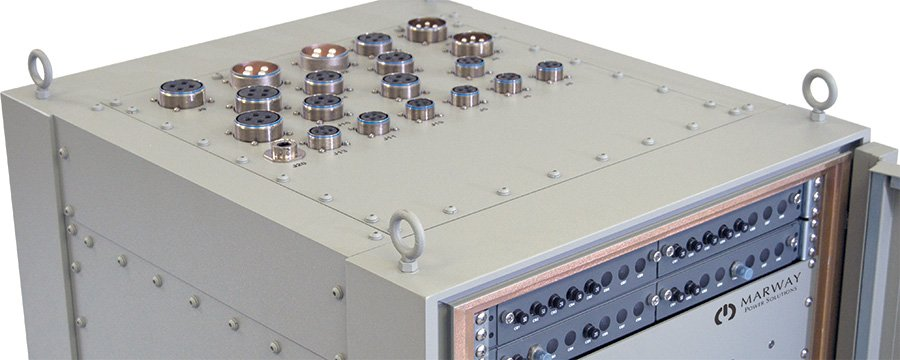 Photo of Marway PowerPlus rack developed for naval ship power distribution.